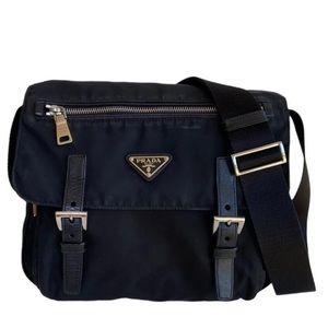 Prada Nylon Vela Messenger Crossbody Bag